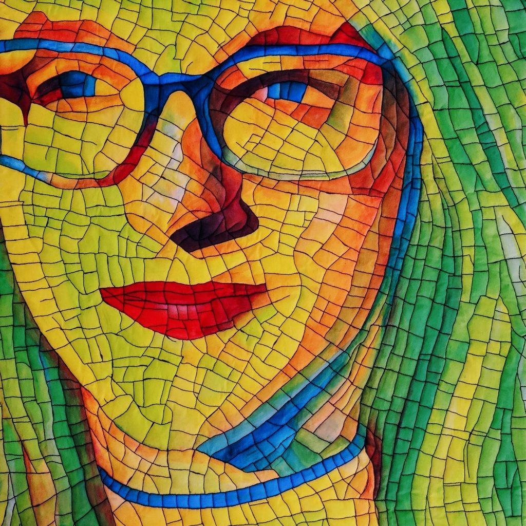 Christel Sins-Camp - portretten in textielverf - nathalie